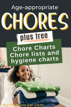 Age appropriate chores can help kids be a responsible at an early age. Know the right chores by age for your kids and also get free chore charts Chore List For Kids, Chore Chart Kids, Chore Charts, Good Work Ethic, Age Appropriate Chores, Financial Budget, Meal Planning Printable, Charts For Kids, Household Chores