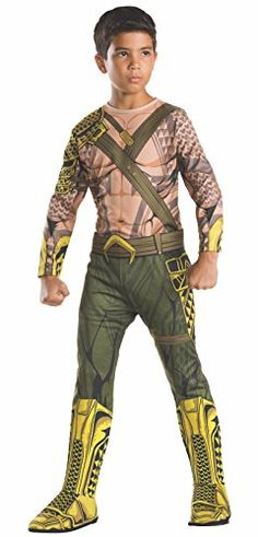 Rubies Costume Kids Batman v Superman Dawn of Justice Aquaman Value Costume Large