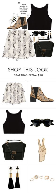 """Find My Way ATCQ"" by devil-in-a-new-dress ❤ liked on Polyvore featuring Karl Lagerfeld, Whistles, Pilot, Lucky Brand, GUESS, Christian Louboutin, Spring, RoundGlasses, Boots and blackandwhite"