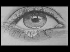 Como dibujar ojo realista muy lindo - YouTube