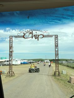 Sturgis - The Buffalo Chip Hoping to drive through here with a motor home pulling the Road King one day