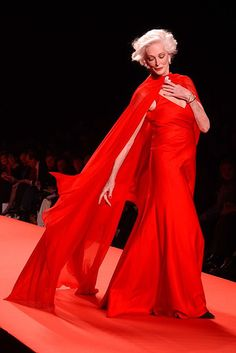 Carmen Dell'Orefice, The Heart Truth's Red Dress Collection 2005