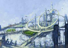 Sci fi flyning city by Gnigi.deviantart.com on @deviantART