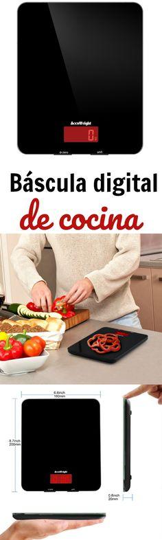 Báscula digital de cocina.Entre los gadgets de cocina más vendidos y mejor valorados en Amazon.