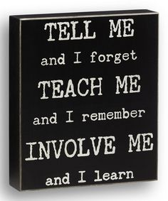 Look what I found on #zulily! Black 'Tell Me' Wall Sign #zulilyfinds
