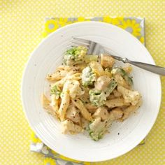Chicken Penne Alfredo - I made this while my daughter was in town and it got rave reviews! Good way to get the veggies in on these cold winter days.