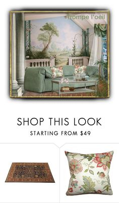 """Trompe l' oeil contest"" by barbara-gennari ❤ liked on Polyvore featuring interior, interiors, interior design, home, home decor and interior decorating"