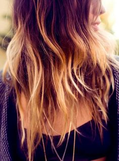 Maybe a bit too random but I can't help but be drawn to the gradient contrast fading out towards the top of her head. 20 Cool Ombre Hair Color Ideas | Popular Haircuts