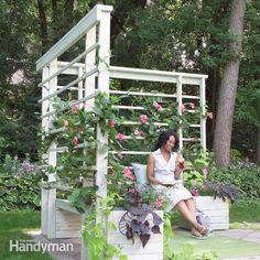 Build this simple seating-planter-arbor project to create a quiet, private space in your yard or on a deck. It provides shade and comfort as well as a welco