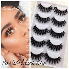 5196d2721f4 Styles might slightly differ since all mink Lashes are handmade. 1 Pair  Lashes in Luxury box. 5 or 10 Pairs Silk Lashes.