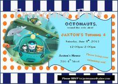 Octonauts Party Invitation  DIY Digital Copy by FranciscoFavs, $5.00