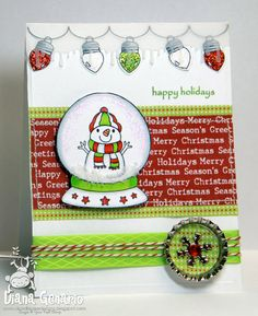 Holiday Snow Globe and Light Up the Holidays : Your Next Stamp