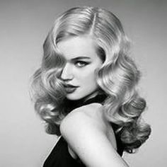 Vintage Wedding Hair How To Create A Classic Hollywood Waves Hair Style - Classic Hollywood waves will never go out of style. Learn the step by step for How To Create A Classic Hollywood Waves Hair Style. Vintage Waves Hair, Vintage Curls, Retro Waves Hair, Waves In Hair, Vintage Long Hair, How To Wave Hair, Curls Hair, Medium Hair Waves, Hair Buns