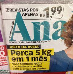 Estava eu na fila do caixa de supermercado outro dia e comecei a ler as manchetes das revistas, tinham 5 tipos de revistas para o público feminino e olha só as manchetes de 4 delas…       Isso sem contar as propagandas no facebook… Sério gente, é sério que mulher só …