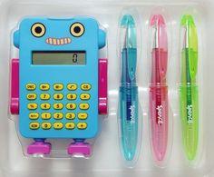 Robot Calculator Set - Light Blue