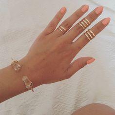 Sunday Jewelry  ♡  ♡  Set de 3 Anéis 'Lines' // Pulseira 'Celestial' // WWW.VANILLAVICE.COM
