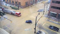 Downtown Water Main Break Closes Several Streets