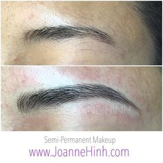 Brow Embroidery www.JoanneHinh.com Beauty Skin, Hair Beauty, Beauty Box, Brow Blading, Eyebrow Tattoo, Tattoo Eyebrows, Eyebrow Before And After, Eyebrow Embroidery, Faux Lashes