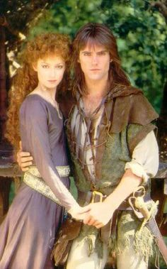 Robin of Locksley and Maid Marion in the TV series 'Robin Of Sherwood'.