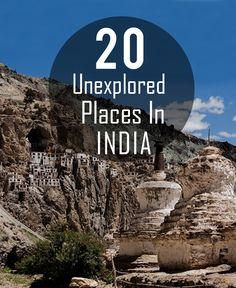20 Unexplored Places In India