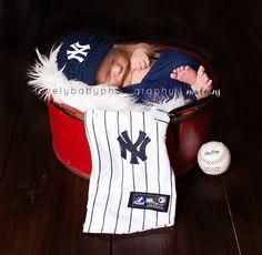New York Yankees Baseball Newborn Photography