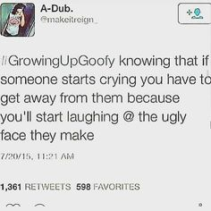 funny, goofy, growing up, lmao, real shit, true - image #3576606 ...