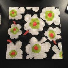 Marimekko design hama perler beads by aslaugsvava Pearler Bead Patterns, Bead Loom Patterns, Perler Patterns, Pearler Beads, Beading Patterns, Quilt Patterns, Beading For Kids, Fusion Beads, Iron Beads