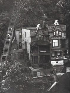 Vintage houses on a hillside, Pittsburgh, PA Antique Photos, Old Photos, Vintage Photos, Pennsylvania Turnpike, Hershey Pennsylvania, Lancaster Pennsylvania, Pennsylvania Railroad, Pennsylvania Dutch, Pittsburgh Pa