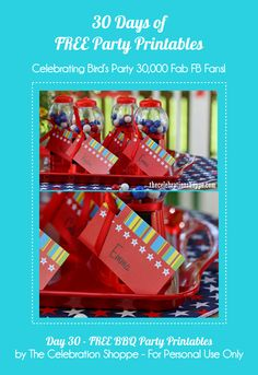 Birds Party Blog: 30 Days of FREE Party Printables: Day 30 - FREE BBQ Party Printables by The Celebration Shoppe