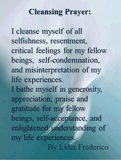 Great cleansing prayer for the upcoming full moon
