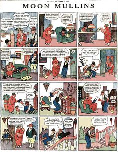 """1923 - """"Moon Mullins"""" created by cartoonist Frank Willard was a popular American comic strip which had a long run as both a daily and Sunday feature from June 1923 to June Newspaper Cartoons, Sunday Newspaper, Comic Art, Comic Books, Bd Comics, Call Art, Classic Comics, Chicago Tribune, Daily Funny"""