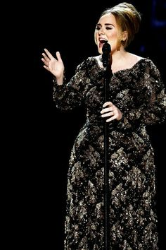 Adele performing at 'Radio City Music Hall'