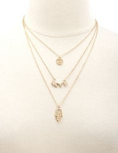 272df92511bb Layer Peace   Love Necklace  Charlotte Russe. Dianitha Towerrs · joyería de  Chapa de Oro