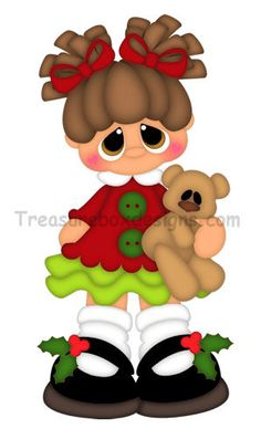 Christmas Girl - Treasure Box Designs Patterns & Cutting Files (SVG,WPC,GSD,DXF,AI,JPEG)