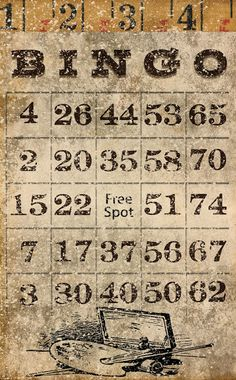 Decided to create a few grungy bingo cards. Free Printable Bingo Cards, Free Printables, Printable Vintage, Vintage Ephemera, Vintage Paper, Bujo, Collages, Book Page Crafts, Journal Cards