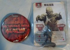 WALKER w/Hat & BUTTON -PROMO- The Walking Dead All Out War Miniatures Game NEW #Mantic