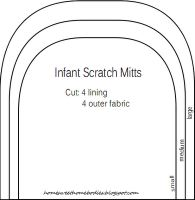 Love this lined infant scratch mitten pattern- made a pair for my niece and it's so simple!