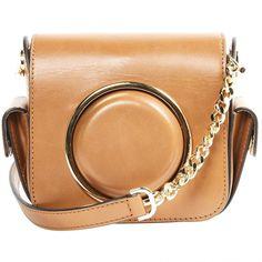 Pre-owned Michael Michael Kors Leather Crossbody Bag (14.580 RUB) ❤ liked on Polyvore featuring bags, handbags, shoulder bags, camel, beige purse, beige leather handbag, leather crossbody, leather purses and leather cross body handbags