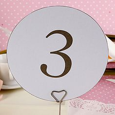 Round Table Number Card - Simple Classic (set of 10)