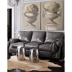 Gray leather couch.... Looooove Grey Leather Couch, Best Leather Sofa, Black Leather, Leather Sofas, Brown Couch, Gray Sofa, Distressed Leather, Neiman Marcus, Living Room Grey