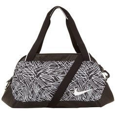 Nike Legend Club Print Gym Bag (1.395 CZK) ❤ liked on Polyvore featuring bags, nike, print bags, gym bag, pattern bag and top handle bag