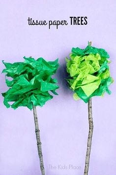 Tissue Paper Trees - #EarthDay craft for Kids..| our schools are actually closed on Earth Day this year. I have seen NO Mention of it in the School Newsletter either?? So, as usual I took the initiative to start my own lessons, activities, small story writing, & of course ART, for my child & her neighbourhood art buddies!