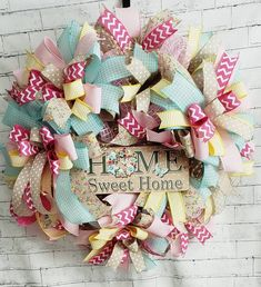 Your place to buy and sell all things handmade Wreath Crafts, Diy Wreath, Burlap Wreath, Spring Wreaths, Summer Wreath, Sweet Home, Perfect Mother's Day Gift, Welcome Wreath, Happy Spring