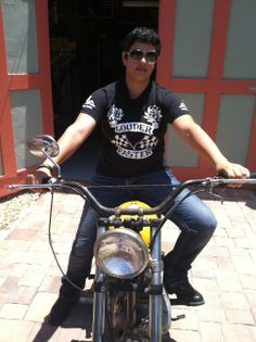 This classic biker/rock t-shirt has been a best seller since Tracie first designed it over a decade ago.  Who doesn't want to be louder and faster? www.traumatease.weebly.com