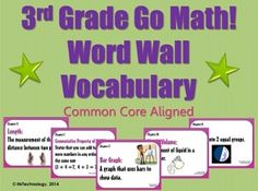 Save yourself loads of time with this 108-page 3rd Grade Go Math! Word Wall Vocabulary Posters bundle! Includes each major vocabulary word that students will be introduced to with definitions for ALL 12 CHAPTERS in the Go Math! program. Perfect for hanging up on a Math Word Wall or in and around Math Centers!
