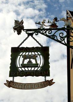 Restaurant sign, Eguisheim