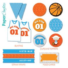 Basketball Lamb Baby Shower Decorations // Party Kit //