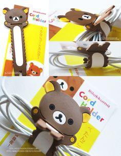 Rilakkuma Cord Holder!   http://pastelpassion.storenvy.com/products/1724991-rilakkuma-cord-holder
