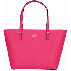 Kate Spade Cedar Street Mini Harmony - Pink Confetti ($153) ❤ liked on Polyvore featuring bags, handbags, kate spade purses, pink handbags, leather tote, pink leather handbags and leather handbags