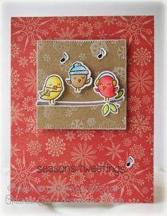 lawn fawn winter sparrows, seasons tweeting, #wintersparrows